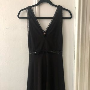 Free People black skater dress with cutouts NEW
